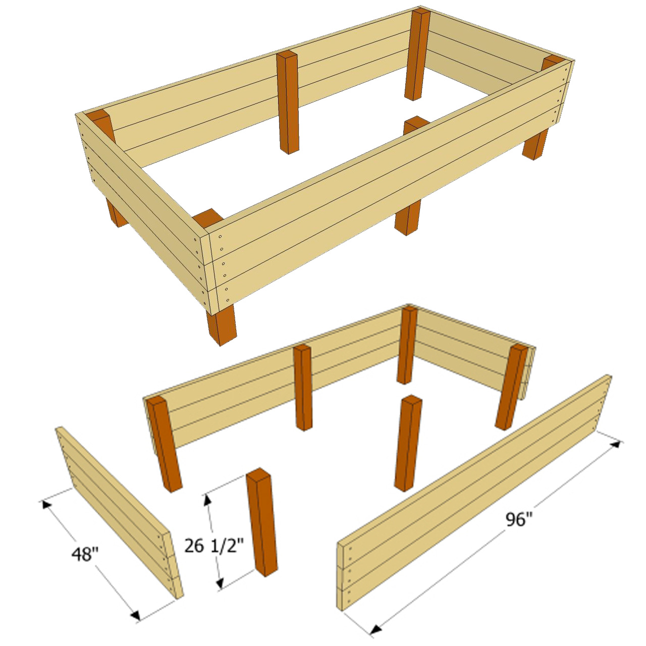 Raised garden beds plans for Raised bed plans